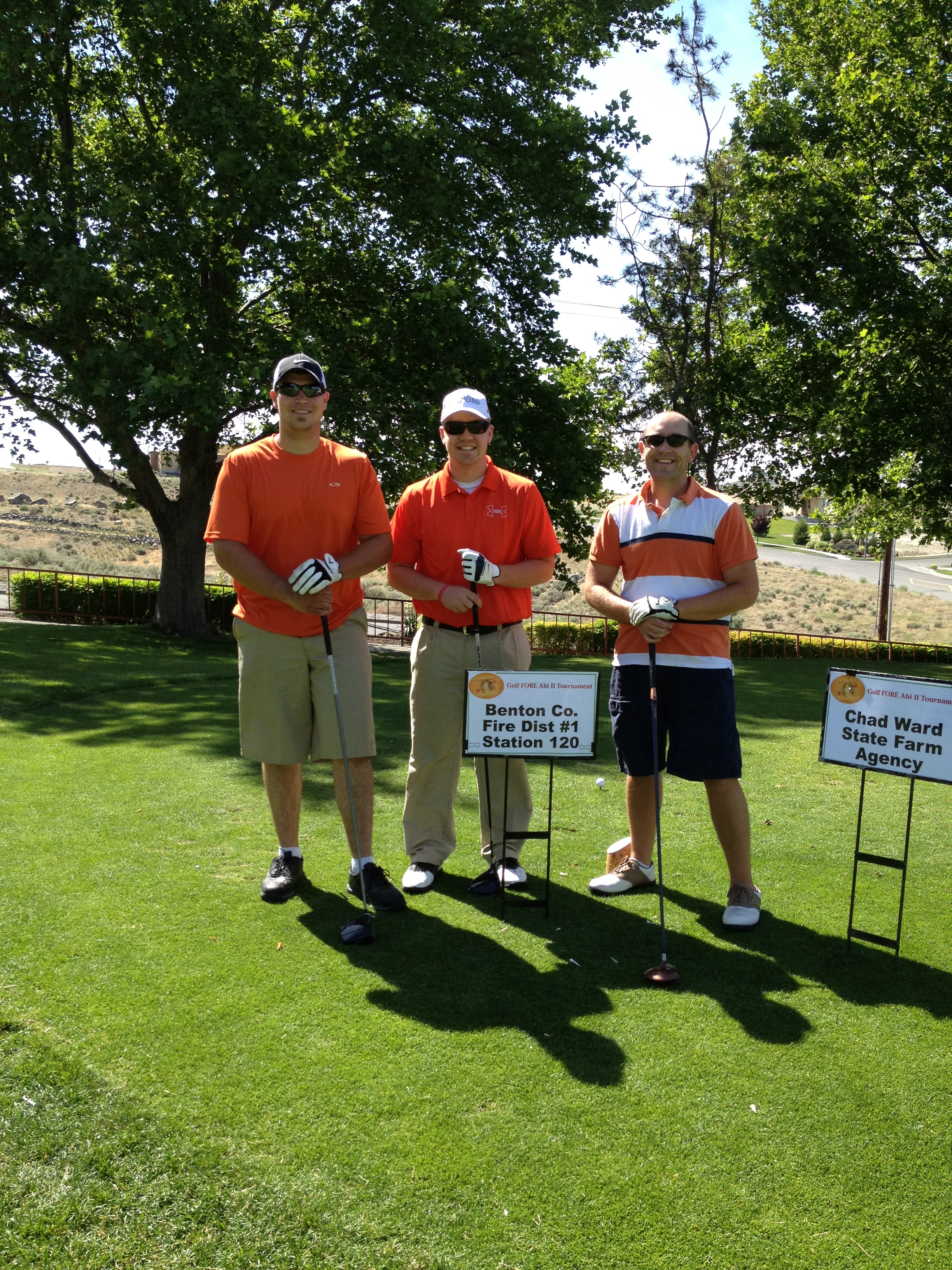 Residents Participating as a team in a local charity golf tournament.